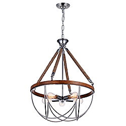 Parana 24 inch 5 Light Chandelier with Chrome Finish