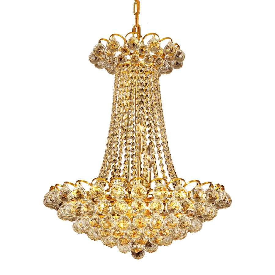CWI Lighting Glimmer 21 inch 11 Light Chandelier with Gold Finish