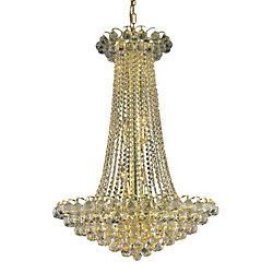 CWI Lighting Glimmer 24 inch 11 Light Chandelier with Gold Finish