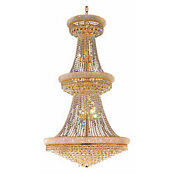 Empire 36 inch 34 Light Chandelier with Gold Finish