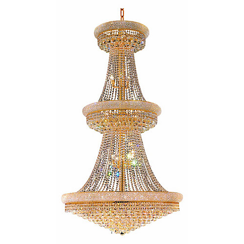Empire 42 inch 38 Light Chandelier with Gold Finish
