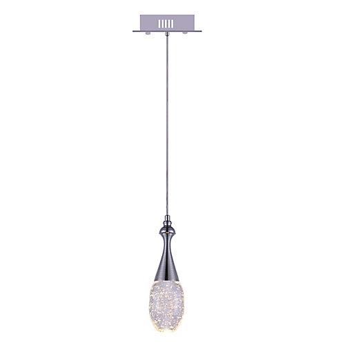 Dior 5 inch 1 Light Mini Pendant with Chrome Finish