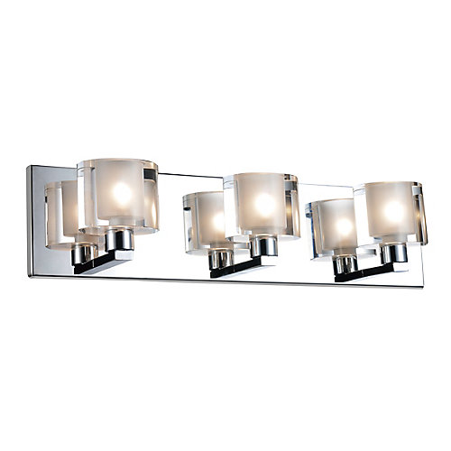 Tina 19 inch 3 Light Wall Sconce with Satin Nickel Finish