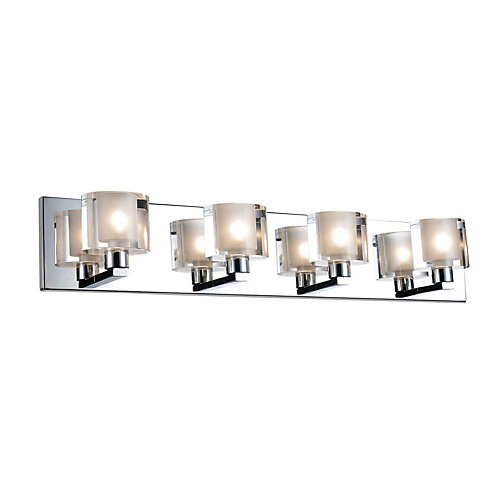 Tina 25 inch 4 Light Wall Sconce with Satin Nickel Finish