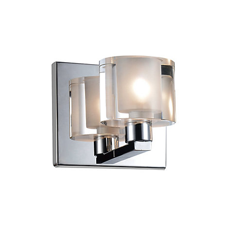Tina 4 inch 1 Light Wall Sconce with Chrome Finish