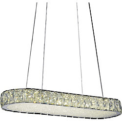 Milan 22 inch LED Chandelier with Chrome Finish