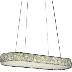 CWI Lighting Milan 22 inch LED Chandelier with Chrome Finish