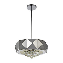 Meuse 18 inch 6 Light Chandelier with Chrome Finish