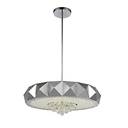 Meuse 30 inch 10 Light Chandelier with Chrome Finish