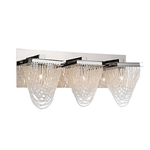 Finke 21 inch 3 Light Wall Sconce with Chrome Finish