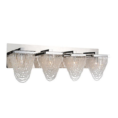 Finke 29 inch 4 Light Wall Sconce with Chrome Finish