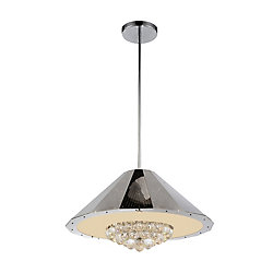 Yangtze 25 inch 9 Light Chandelier with Chrome Finish