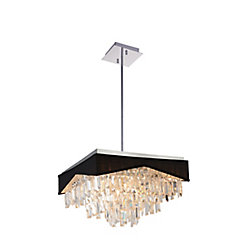 Havely 18 inch 13 Light Chandelier with Chrome Finish