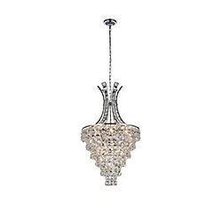 Chique 16 inch 9 Light Chandelier with Chrome Finish