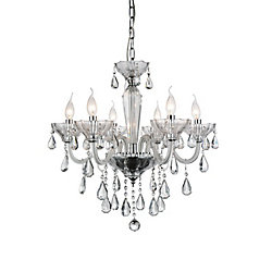 Harvard 24 inch 6 Light Chandelier with Chrome Finish