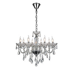 Harvard 28 inch 8 Light Chandelier with Chrome Finish