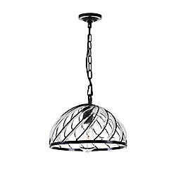 Escot 12 inch 1 Light Chandelier with Black Finish