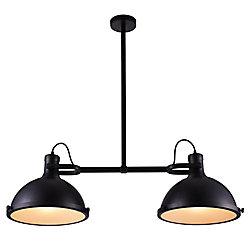 Strum 37 inch 2 Light Chandelier with Black Finish