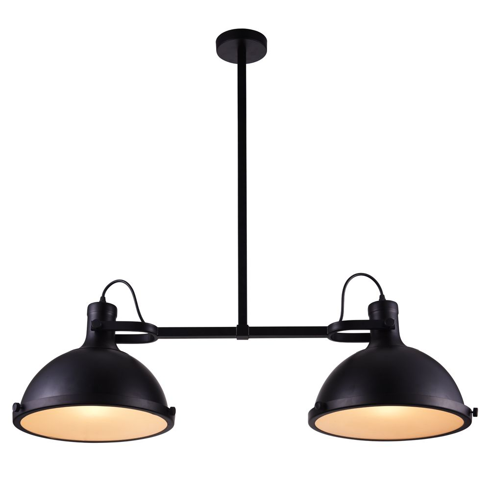 CWI Lighting Strum 37 inch 2 Light Chandelier with Black Finish