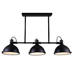 Strum 50 inch 3 Light Chandelier with Black Finish