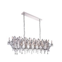 CWI Lighting Aleka 58 inch 24 Light Chandelier with Chrome Finish