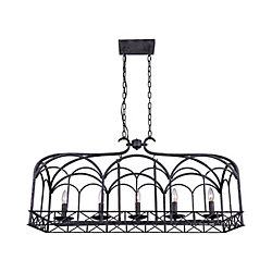 Sequoia 37 inch 5 Light Chandelier with Brownish Black Finish