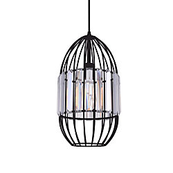 Alethia 8 inch 1 Light Mini Pendant with Black Finish
