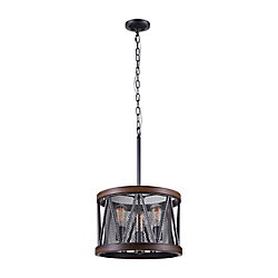 Parsh 16 inch 3 Light Chandelier with Pewter Finish