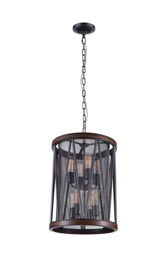CWI Lighting Parsh 16 inch 8 Light Chandelier with Pewter Finish
