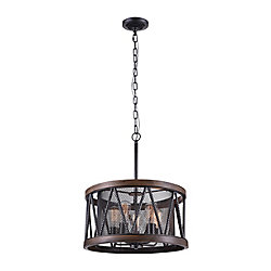 Parsh 20 inch 5 Light Chandelier with Pewter Finish
