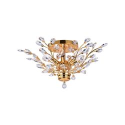CWI Lighting Ivy 22 inch 6 Light Flush Mount with Gold Finish