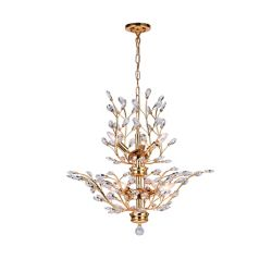 CWI Lighting Ivy 28 inch 8 Light Chandelier with Gold Finish