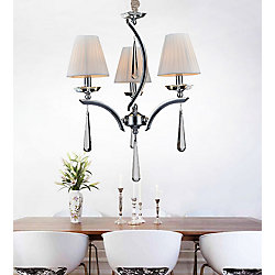 Alice 18 inch 3 Light Chandelier with Chrome Finish