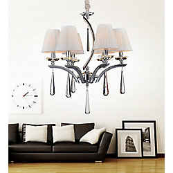 Alice 24 inch 6 Light Chandelier with Chrome Finish