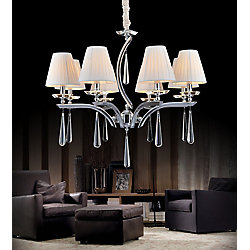 Alice 30 inch 8 Light Chandelier with Chrome Finish