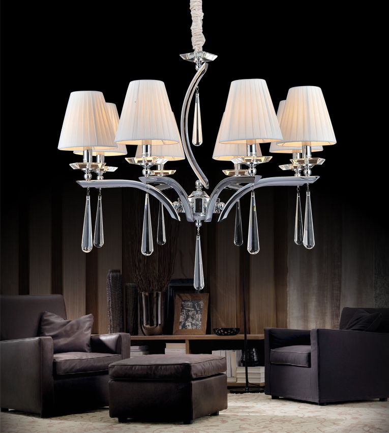 CWI Lighting Alice 30 inch 8 Light Chandelier with Chrome Finish