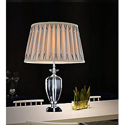 Yale 17 inch 1 Light Table Lamp with Chrome Finish