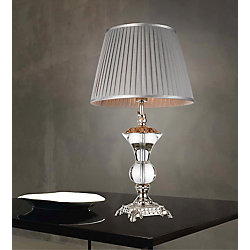 CWI Lighting Yale 15 inch Single Light Table Lamp with Silver Finish