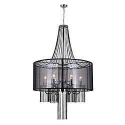 Amelia 20-inch 6 Light Chandelier with Chrome Finish