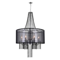 CWI Lighting Amelia 20-inch 6 Light Chandelier with Chrome Finish