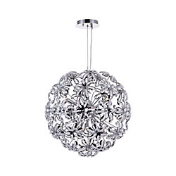 Patricia 20 inch 10 Light Chandelier with Chrome Finish