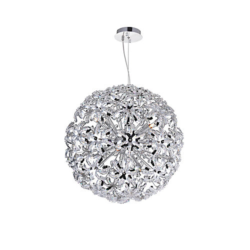 Patricia 24 inch 14 Light Chandelier with Chrome Finish
