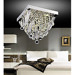 Madonna 14 inch 5 Light Flush Mount with Chrome Finish
