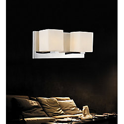 Cristini 12 inch 2 Light Wall Sconce with Satin Nickel Finish
