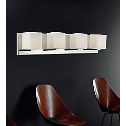 Cristini 26 inch 4 Light Wall Sconce with Satin Nickel Finish