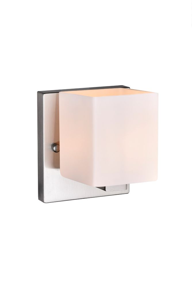 CWI Lighting Cristini 6 inch 1 Light Wall Sconce with Satin Nickel Finish