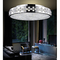 Cinderella 28 inch 12 Light Flush Mount with Chrome Finish
