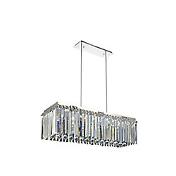 CWI Lighting Celeste 32 inch LED Chandelier with Chrome Finish