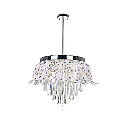 CWI Lighting Frost 20 inch LED Chandelier with Chrome Finish