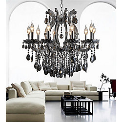 CWI Lighting Colossal 32 inch 10 Light Chandelier with Chrome Finish